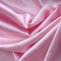 Ткань атлас розовый (нежно-розовый)