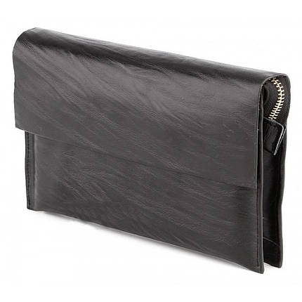 Стильная мужская барсетка-клатч из натуральной кожи c оригинальным тиснением, фото 2