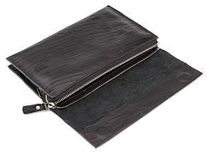 Стильная мужская барсетка-клатч из натуральной кожи c оригинальным тиснением, фото 3