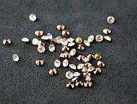 Стразы конусные (50 штук) серебро стекло 4мм