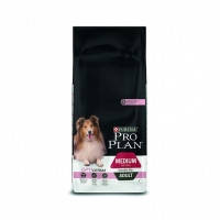 Pro Plan ADULT MEDIUM Sensitive Skin OPTIDERMA для взрослых собак средних пород с лососем и рис 14кг
