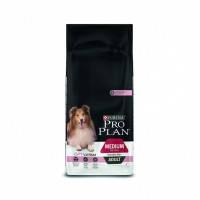 Pro Plan ADULT MEDIUM Sensitive Skin OPTIDERMA Корм для взрослых собак средних пород с лососем и рисом, 14кг