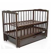 """Дитяче ліжко-колиска """"Малятко"""" (горіх)"""
