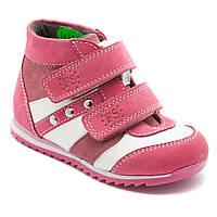 Кожаные ботинки для девочки FS Сollection, на липучках, размер 21-30