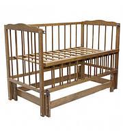 """Дитяче ліжко-колиска """"Малятко"""" (лісовий горіх)"""
