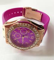 Часы женские с силиконовым ремешком, фото 1