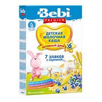 Bebi Premium молочная каша - 7 злаков с черникой