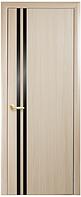 Вита BLK - Дуб жемчужный (60, 70, 80, 90см). Коллекция Квадра. Межкомнатные двери МДФ Новый Стиль
