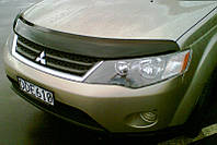 Дефлектор капота ( мухобойка ) Mitsubishi Outlander XL 2007 - 2010