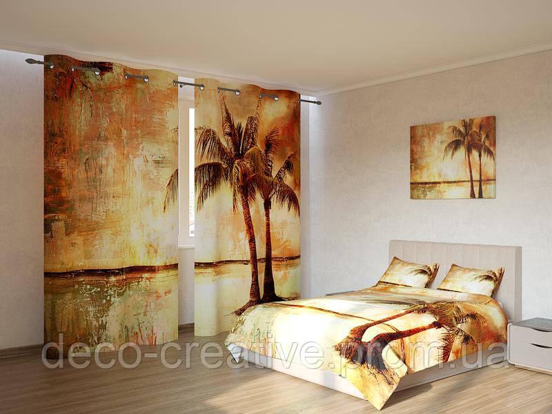 Фотокомплект картина с пальмами