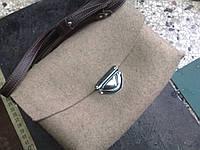 Ремонт замка в войлочной дизайнерской сумочке