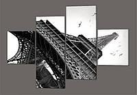 Модульная картина Эйфелева Башня, Париж 160*114 см Код: 260.4k.160