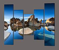Модульная картина Большие камни 140*125 см Код: 587.5к.140