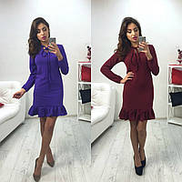 Тёплое платье с рюшами, фото 1