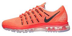 "Мужские кроссовки Nike Air Max 2016 Leather ""Orange"", найк, аир макс"