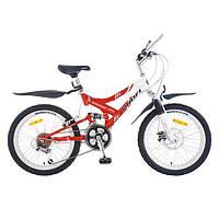 Спортивный велосипед 20 дюймов PROFI - Sensor FR, M 2009А  (красно-белый) - на стальной раме