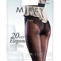 Лучшие женские колготки Mirey с ажурными трусиками с ластовицей и усиленным носком 20 den Арт.elg20