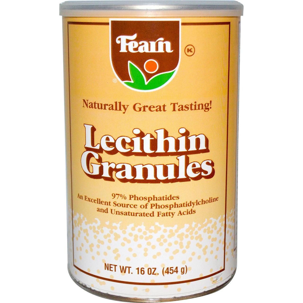 Лецитин в гранулах, Fearn Natural Food, 454 г. Сдедано в США