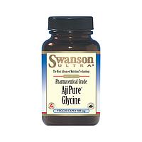 Глицин фармацевтического качества, Swanson, 500 мг, 60 капсул
