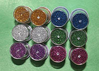 Гліттер набір 6 кольорів (по дві штуки кожного) 10081, фото 1