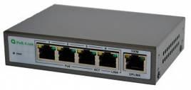 5-портовый коммутатор Tesla VSP-504P(4 порта PoE)