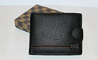 Мужской кошелек черного цвете