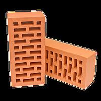 Кирпич М100 красный керамический рядовой пустотелый