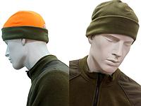 Флисовая шапка для охоты олива оранж LikeProfi