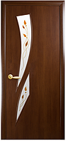 Камея-Р1 Орех 3d (60, 70, 80, 90см). Коллекция Модерн. Межкомнатные двери МДФ Новый Стиль