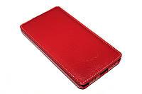 Кожаный чехол флип Melkco для Lenovo S860 красный