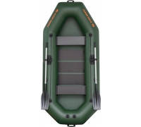 Надувная ПВХ лодка гребная двухместная Kolibri K-280T серия Standart (слань-книжка)