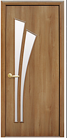 Лилия - Золотая Ольха (60, 70, 80, 90см). Коллекция Модерн. Межкомнатные двери МДФ Новый Стиль