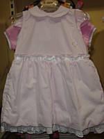 Нарядное (лето) платье платье сердечко стразах, с рюшами в розов полоску дев. розовый 100%хлопок 45041840 Melb