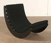 """Кресло качалка """"Elit"""" черный, велюр черный"""