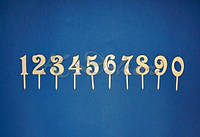 Цифры (набор) на шпажке заготовки для декора