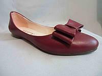 Туфли женские с бантом