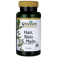 Комплекс витаминный для волос, кожи и ногтей, Hair, Skin & Nails, Swanson, 60 таблеток