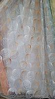 Тюль органза Круги 0-123