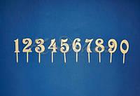 Цифра на шпажке заготовки для декора