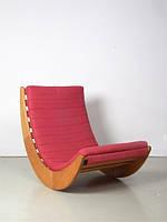 """Кресло качалка """"Elit"""" классик, велюр розовый"""