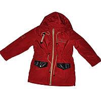 """Детская удлиненная куртка для девочки """"Анита"""" от ТМ Деньчик  (арт 7026)."""