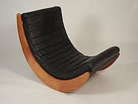 """Кресло качалка """"Elit"""" классик, экокожа черный"""