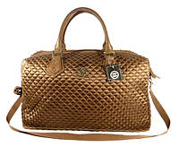 48edfb4ff047 Дорожная сумка - саквояж Chanel 5340 коричневая стеганая, текстиль