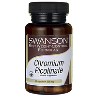 Пиколинат Хрома, Chromium Picolinate, Swanson, 200 мг 60 капсул