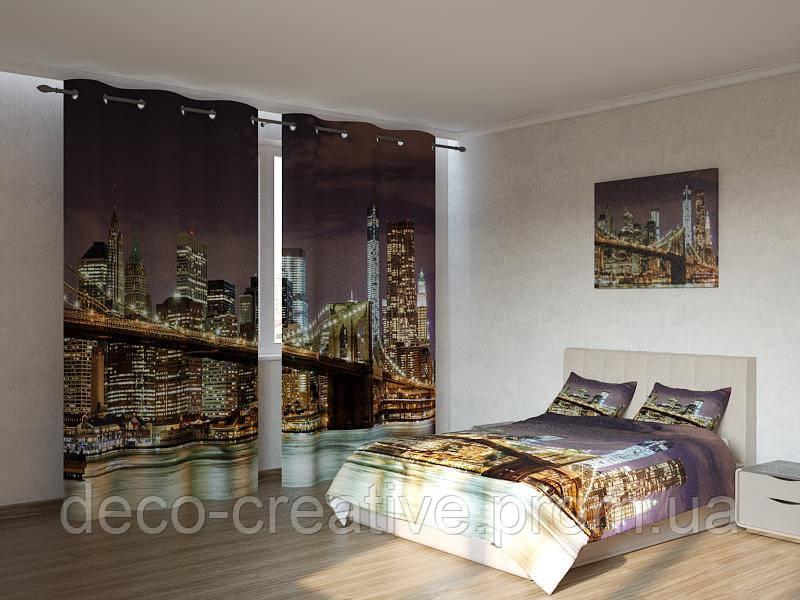 Фотокомплекты Бруклинский мост ночью