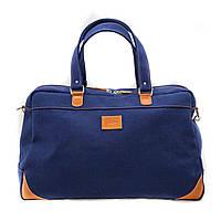 Дорожная стильная сумка из натурального хлопока 30 л. VATTO B14Hl Kr190 синий