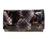 Кожаный женский кошелек Desisan 128 питон лаковый, расцветки в наличии