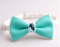 Бабочка галстук бирюза с камнем Версаче