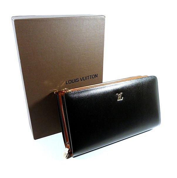 Клатч кожаный мужской черный Louis Vuitton 8177-2b