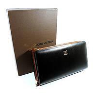 Клатч кожаный мужской черный Louis Vuitton 8177-2b, фото 1